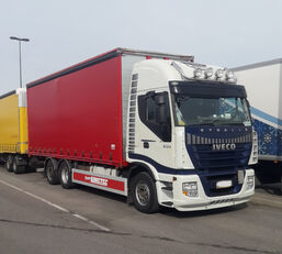 IVECO Stralis AS260S500  6x2 camión con lona corredera