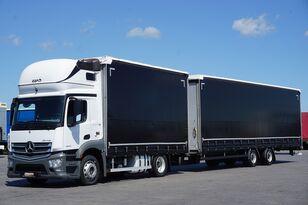 MERCEDES-BENZ ANTOS / 1840  / E 6 / ZESTAW  120 M3 / 39 PALET / ŁAD. 21 460 KG camión con lona corredera + remolque con lona corredera