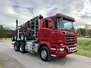 SCANIA R 730 V8 6x4 Dzwig LOGLIFT 251S Do Drewna KOMPLET camión maderero