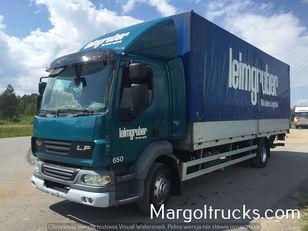 DAF LF 55 250 plandeka + winda Sprowadzony ze Szwajcarii camión toldo