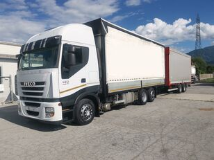 IVECO Iveco Stralis 420 camión toldo + remolque toldo