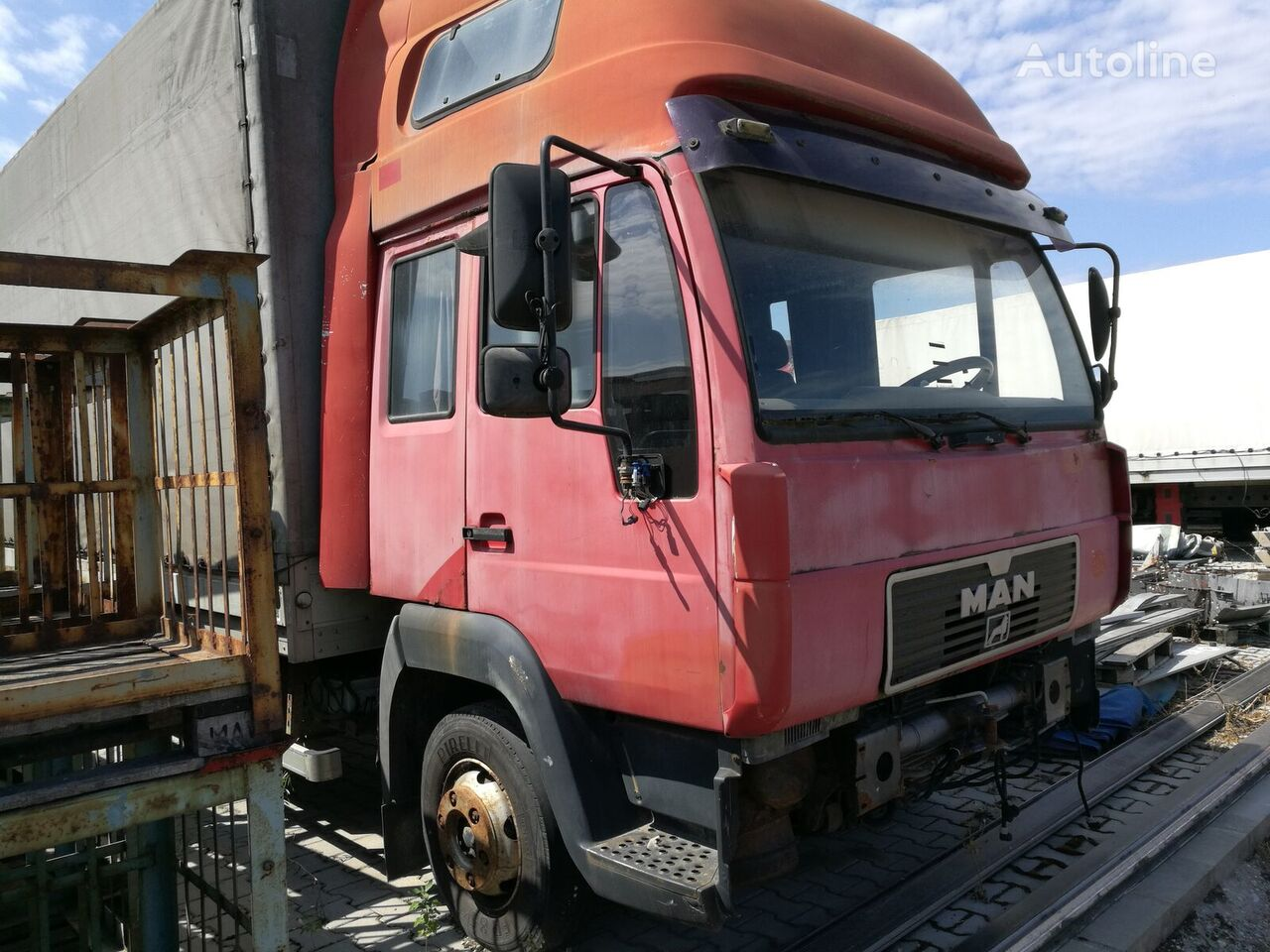 MAN 8.174 LC camión toldo