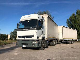 RENAULT PREMIUM 420 DCI + biga Omar + rimorchio centinato camión toldo