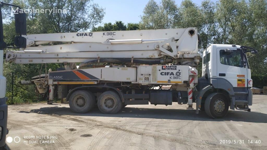 bomba de hormigón MERCEDES-BENZ Axor 3340