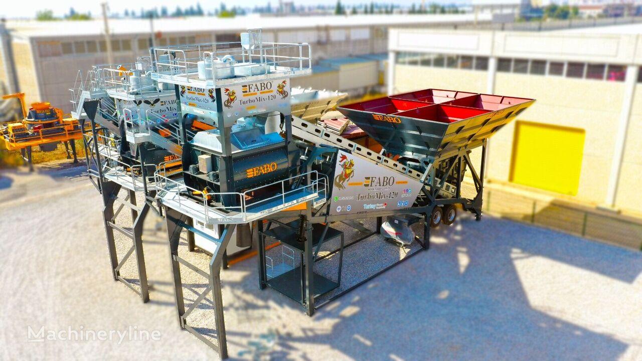 FABO TURBOMİX 120 NEW DESIGN MOBILE CONCRETE BATCHING PLANT IN ALL CA planta de hormigón nueva