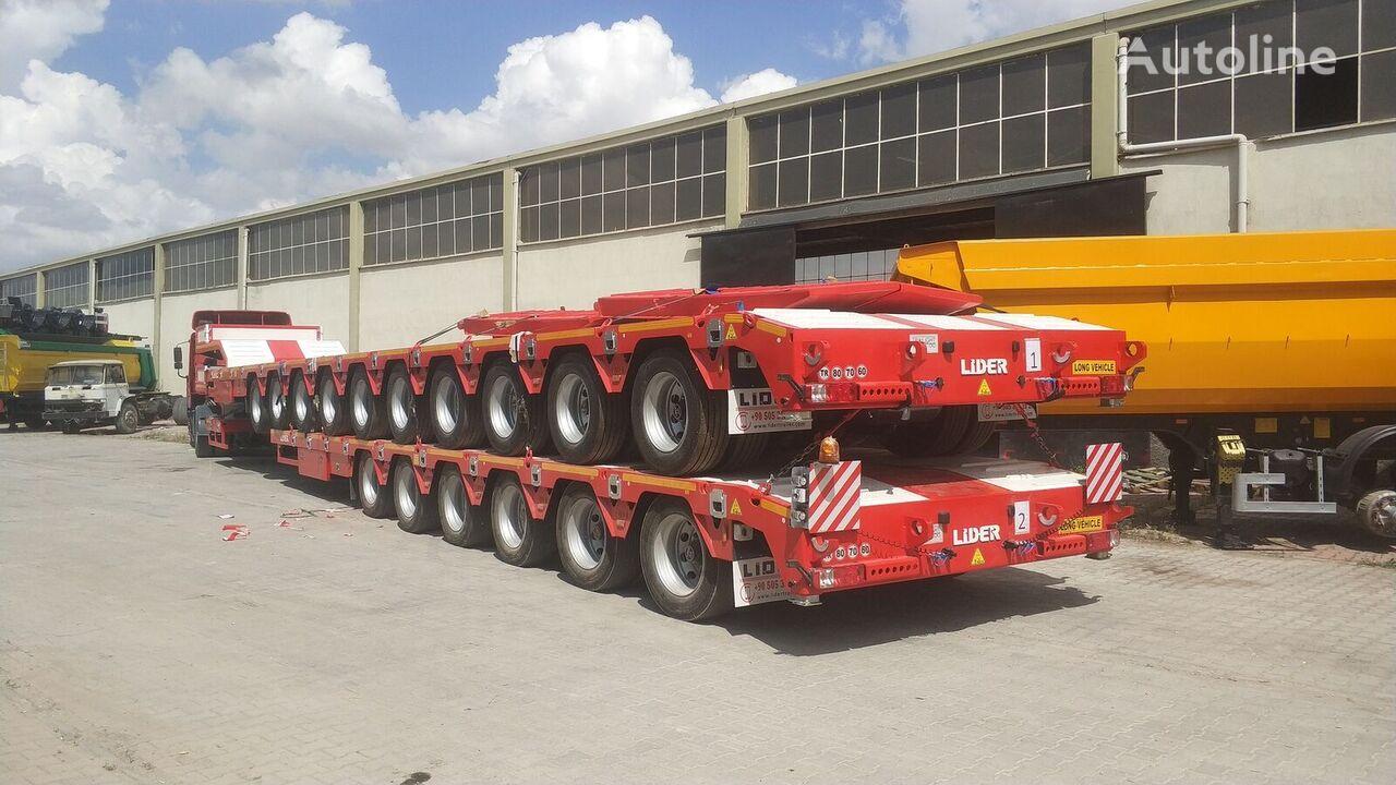 LIDER 2021 model 150 Tons caapcity Lowbed semi trailer  semirremolque de cama baja nuevo